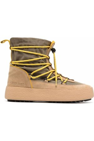 Moon Boot Crossover tie-fastening track boots - Neutrals