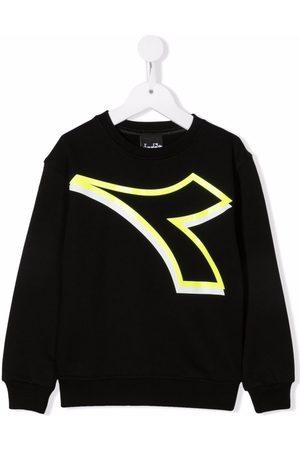 Diadora Boys Hoodies - Central logo print sweatshirt