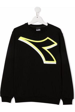 Diadora Hoodies - Central logo print sweatshirt