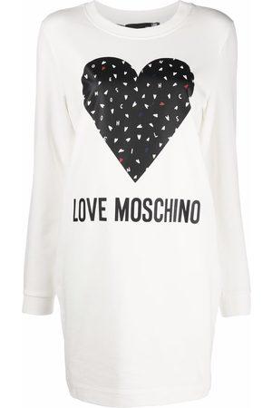 Love Moschino Logo-print sweatshirt dress