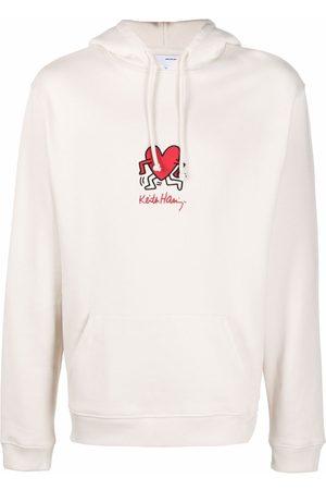 Axel Arigato Men Hoodies - X Keith Haring organic cotton hoodie - Neutrals