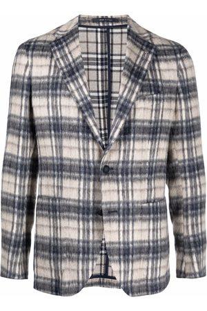 TAGLIATORE Men Blazers - Brushed wool jacket - Neutrals