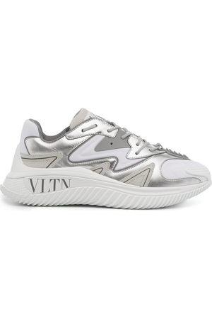 VALENTINO GARAVANI Men Sneakers - Silver panelled sneakers - Grey