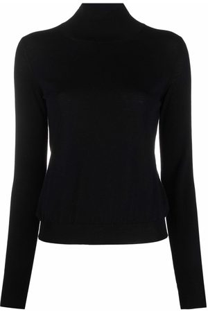 There Was One Women High Necks - Stripe-detail high-neck knitted top