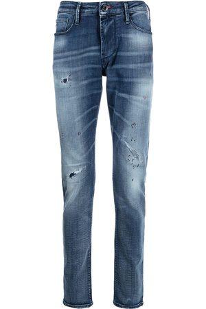 Emporio Armani Men Straight - Distressed straight-leg jeans