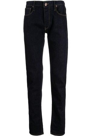 Emporio Armani Men Straight - Logo-patch straight-leg jeans