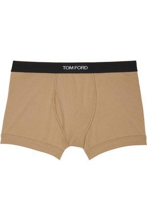 Tom Ford Men Boxer Shorts - Beige Cotton Boxer Briefs