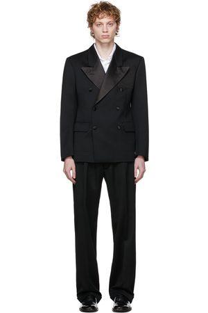 Maison Margiela Men Suits - Black Wool Barathea Suit