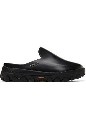Solid Black Sneaker Mule Loafers