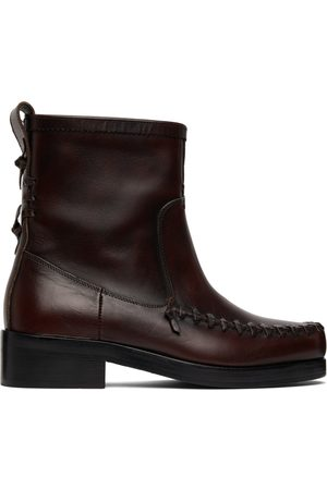 Stefan Cooke Men Ankle Boots - Red Ankle Chelsea Boots