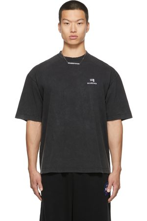 Balenciaga Men T-shirts - Medium-Fit Sporty B T-Shirt