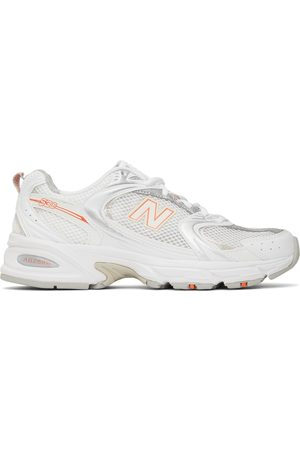 New Balance Women Sneakers - White, Grey & Orange 530 Sneakers