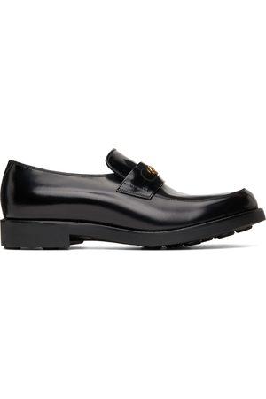 Gucci Men Loafers - Black Interlocking G Loafers