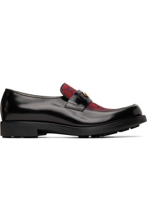 Gucci Men Loafers - Black & Red GG Loafers