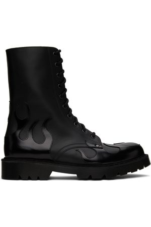 Vetements Men Lace-up Boots - Fire Military Lace-Up Boots