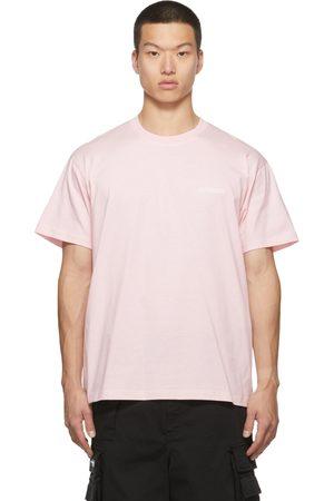 Vetements Men T-shirts - SSENSE Exclusive Pink Logo T-Shirt