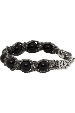 EMANUELE BICOCCHI Men Bracelets - Silver & Beaded Bracelet