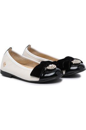 ANDANINES Girls Ballerinas - Bow-embellished ballerina shoes
