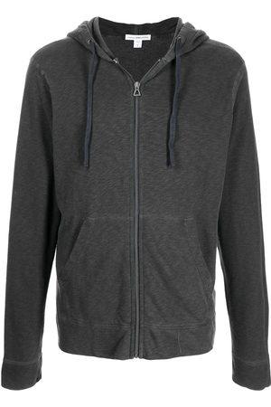 James Perse Zipped-up fleece hoodie - Grey