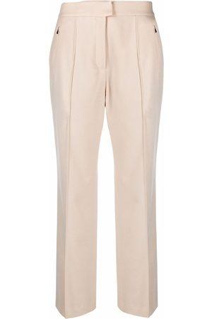Agnona Women Straight Leg Pants - Cropped straight-leg trousers - Neutrals