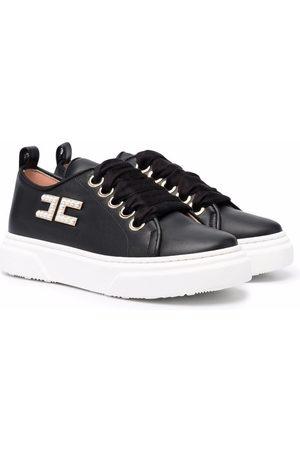 Elisabetta Franchi La Mia Bambina Platform Sneakers - Logo-plaque platform sneakers