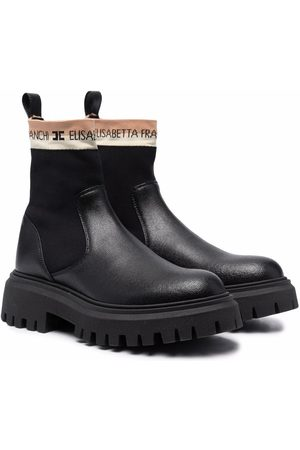 Elisabetta Franchi La Mia Bambina Ankle Boots - TEEN logo-print ankle boots
