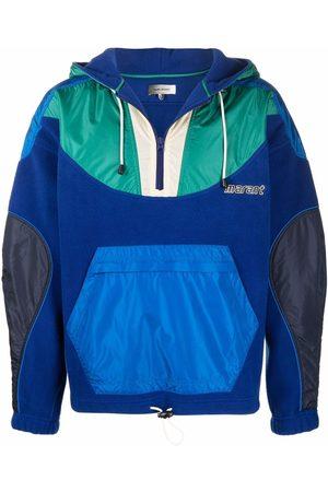 Isabel Marant Men Hoodies - Logo-embroidered panelled hoodie