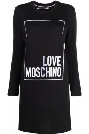 Love Moschino Women Party Dresses - Logo T-shirt mini dress