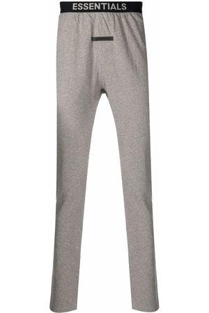 FEAR OF GOD Men Sweatpants - Logo-waistband cotton track pants - Grey
