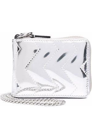Sandro Metallic-effect zip-up purse