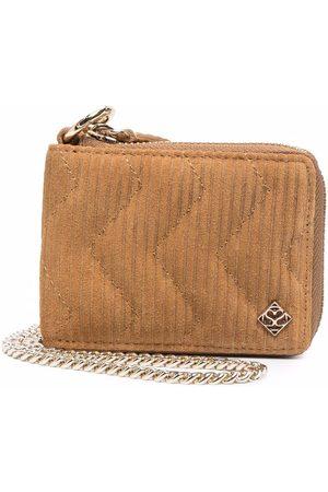 Sandro Padded zip-up purse - Neutrals