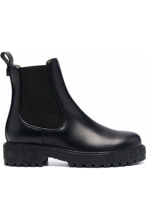Salvatore Ferragamo Gancini sole Chelsea ankle boots