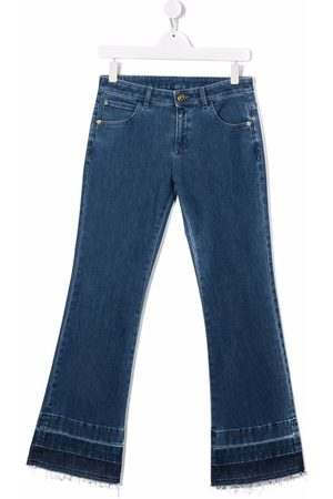 VERSACE Girls Flares - Low-rise flared denim jeans