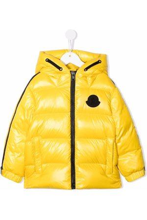 Moncler Boys Puffer Jackets - Logo-patch puffer jacket