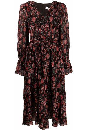 Diane von Furstenberg Women Printed Dresses - Floral-print ruffled dress