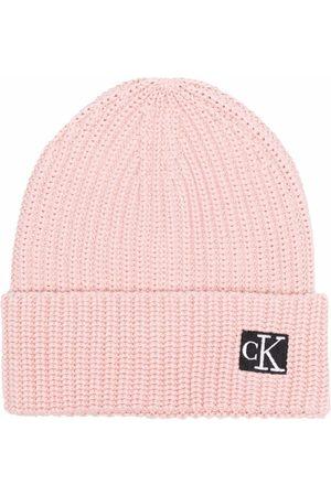 Calvin Klein Logo-patch cotton beanie