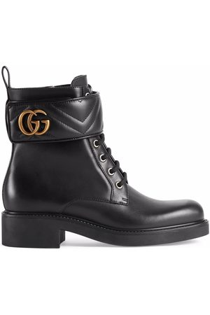 Gucci Women Ankle Boots - Logo-plaque ankle boots