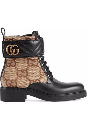 Gucci GG-canvas logo-plaque ankle boots