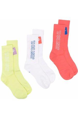 Nike Men Socks - Slogan-print socks (pack of 3)