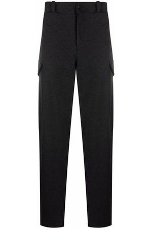 Emporio Armani Mid-rise straight-leg trousers