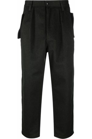Emporio Armani Pleat detail cropped trousers