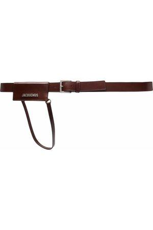 Jacquemus Logo plaque leather belt