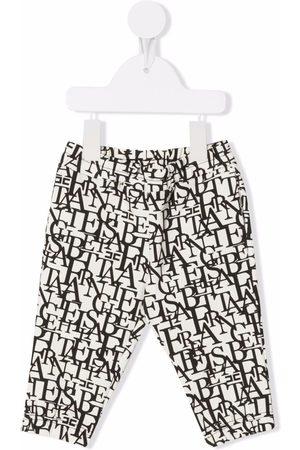 Elisabetta Franchi La Mia Bambina Logo-print stretch-cotton leggings - Neutrals