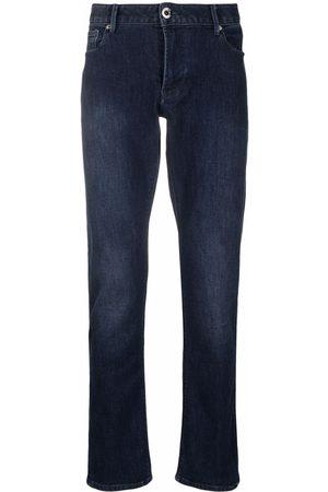 Emporio Armani Slim-fit faded jeans
