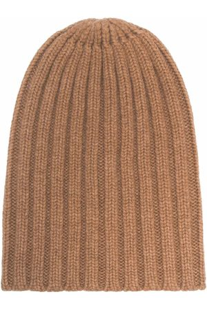 LANEUS Ribbed-knit cashmere beanie