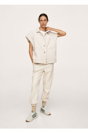 MANGO Oversized denim vest