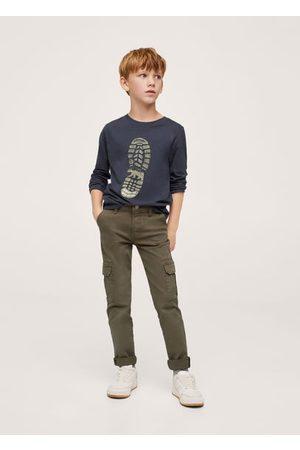 MANGO Printed long sleeve t-shirt