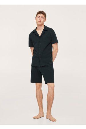 MANGO Men Pajamas - Cotton pajama shorts pack