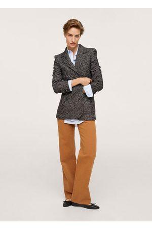 MANGO Cotton knit blazer