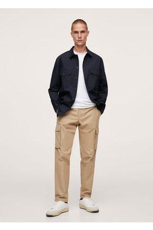 MANGO Chest-pocket cotton overshirt